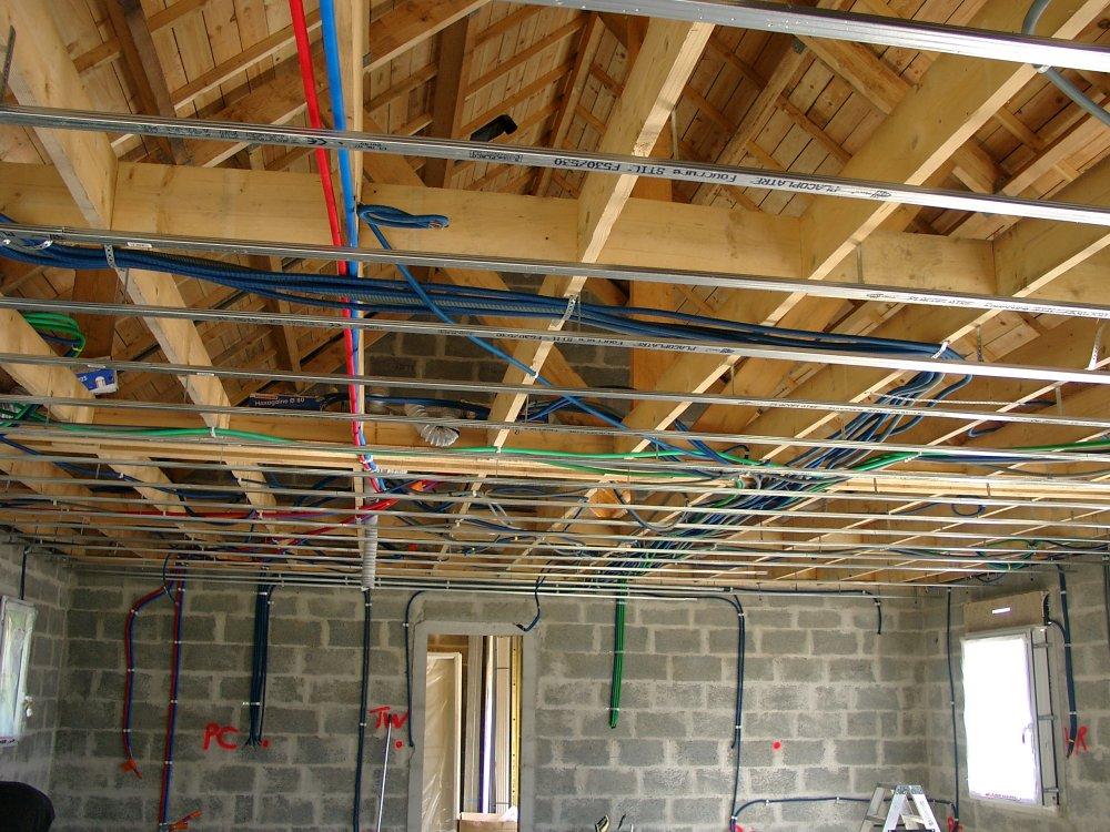 Pose de placo plafond for Poser plafond placo